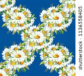 seamless floral pattern with... | Shutterstock .eps vector #1136558405
