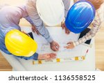 architects and engineers... | Shutterstock . vector #1136558525
