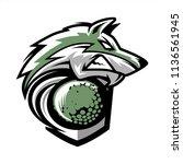 golf wolf team logo   Shutterstock .eps vector #1136561945