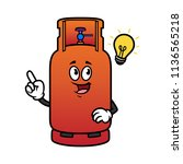 cartoon gas cylinder character... | Shutterstock .eps vector #1136565218