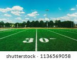 30 yard line on american... | Shutterstock . vector #1136569058