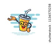 cup character presentation... | Shutterstock .eps vector #1136570258