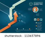 infographic arrow diagram chart.... | Shutterstock .eps vector #113657896