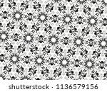 ornament with elements of black ... | Shutterstock . vector #1136579156