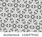 ornament with elements of black ... | Shutterstock . vector #1136579162