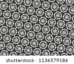 ornament with elements of black ... | Shutterstock . vector #1136579186