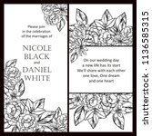 romantic wedding invitation... | Shutterstock .eps vector #1136585315
