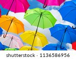 beautiful display of colorful... | Shutterstock . vector #1136586956