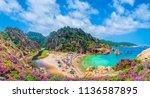 landscape of costa paradiso... | Shutterstock . vector #1136587895