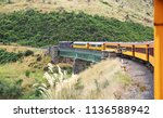 taieri gorge railway   south... | Shutterstock . vector #1136588942