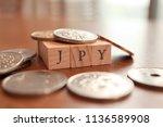 jpy  japanese yen  text block... | Shutterstock . vector #1136589908