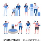 people who drink lots of hot... | Shutterstock .eps vector #1136591918
