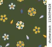 abstract flower seamless... | Shutterstock .eps vector #1136594828