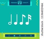 symbol of music  notes.... | Shutterstock .eps vector #1136602466