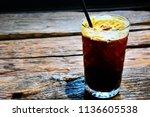 refreshing drink for summer or... | Shutterstock . vector #1136605538