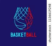 basketball in hoop logo icon...   Shutterstock .eps vector #1136619248