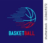 basketball dash logo icon...   Shutterstock .eps vector #1136619272
