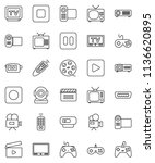 thin line vector icon set  ... | Shutterstock .eps vector #1136620895