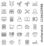 thin line vector icon set  ... | Shutterstock .eps vector #1136620988
