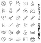 thin line vector icon set  ... | Shutterstock .eps vector #1136621045