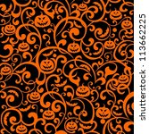 halloween background.... | Shutterstock . vector #113662225
