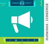 speaker  bullhorn icon | Shutterstock .eps vector #1136624618
