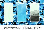 light blue vector material... | Shutterstock .eps vector #1136631125