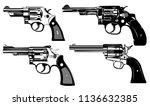 revolvers shotgun set | Shutterstock .eps vector #1136632385
