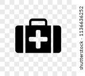 first aid kit vector icon on...