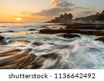 seascape in sunset with strong... | Shutterstock . vector #1136642492