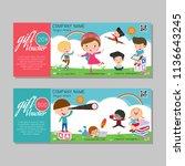 gift voucher template and... | Shutterstock .eps vector #1136643245