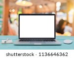 computer notebook and mouse... | Shutterstock . vector #1136646362