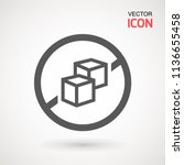 no sugar free vector icon.... | Shutterstock .eps vector #1136655458
