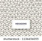abstract seamless lattice... | Shutterstock .eps vector #1136656055
