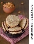 walnut cookies - stock photo