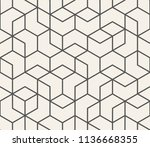 abstract seamless lattice... | Shutterstock .eps vector #1136668355