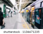 blurry subway station | Shutterstock . vector #1136671235