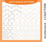 tracing lines activity for... | Shutterstock .eps vector #1136675588