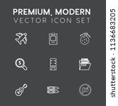 modern  simple vector icon set... | Shutterstock .eps vector #1136683205