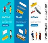 subway station banner vecrtical ... | Shutterstock .eps vector #1136684585