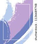 vertical frame with paint brush ... | Shutterstock .eps vector #1136689748