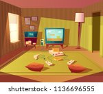 vector cartoon illustration of... | Shutterstock .eps vector #1136696555