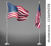 vector 3d realistic flags of... | Shutterstock .eps vector #1136696558