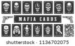 cards for the mafia game.... | Shutterstock .eps vector #1136702075