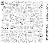 concept of education. school... | Shutterstock .eps vector #1136702648