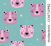 hand drawn seamless pattern... | Shutterstock .eps vector #1136710982