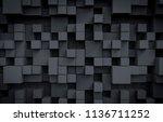 dark cubes background. 3d render | Shutterstock . vector #1136711252