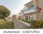 hotel resort compound | Shutterstock . vector #1136713922