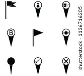location icon set | Shutterstock .eps vector #1136716205