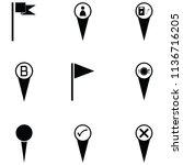 location icon set   Shutterstock .eps vector #1136716205